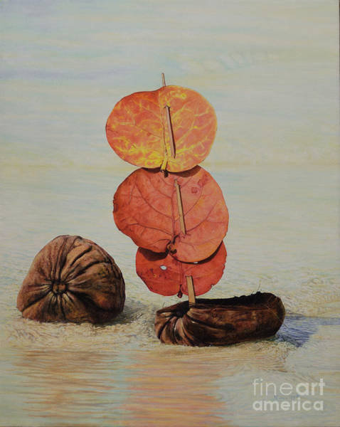 Painting - Sea Grape Sails by Nicole Minnis