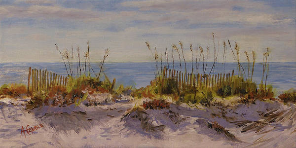 Gulf Shores Alabama Painting - Sea Grass And Sand Dunes by Ann Caudle