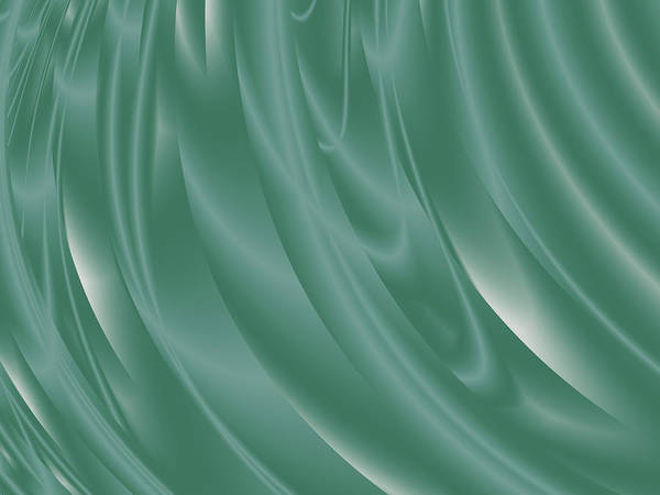 Jade Digital Art - Sea Green Curtain by Rich Leighton