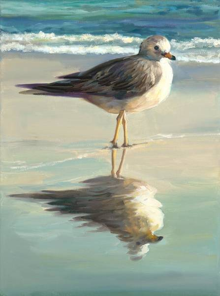 Wall Art - Painting - Sea Gull II by Laurie Snow Hein