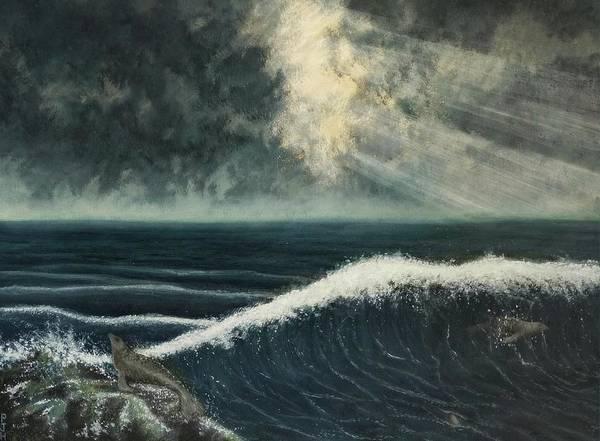Wall Art - Painting - Sea Lion Coast by Philip Harvey