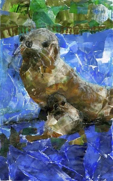 Mammal Mixed Media - Sea Lions By Caleb Kim Grade 2 by California Coastal Commission