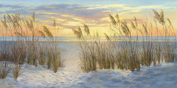 Wall Art - Painting - Sea Oat Sunrise by Laurie Snow Hein