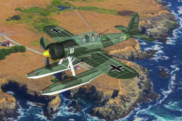 Wall Art - Digital Art - Sea Patrol Over Occupied France by Tommy Anderson