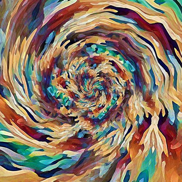 Sea Salad Swirl Art Print