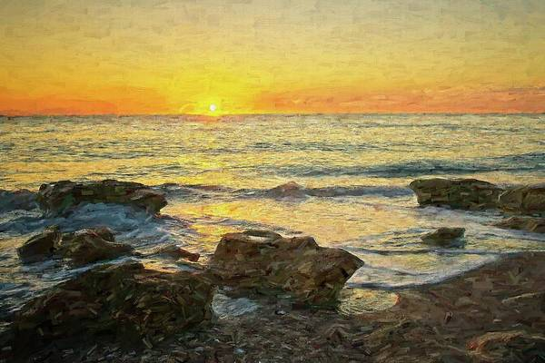 Digital Art - Sea Shore Glow by Steve DaPonte