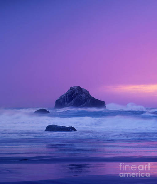 Photograph - Sea Stack Clearing Storm Bandon Beach Oregon by Dave Welling