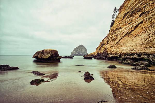 Photograph - Sea Stacks And Reflections At Cape Kiwanda - Oregon by Stuart Litoff