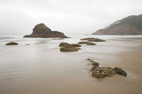 Ecola State Park Photograph - Sea Stacks On A Foggy Morning, Indian by James Hager / Robertharding
