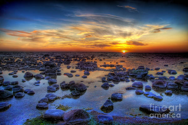 Sea Stones At Sunset Art Print