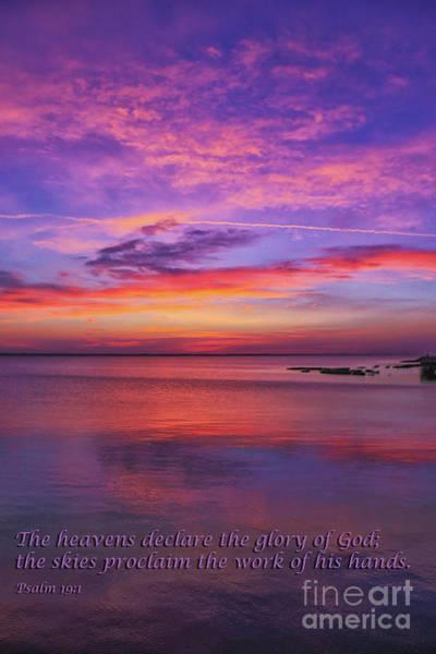 Wall Art - Photograph - Sea Sunset Psalm 19 by Randy Steele