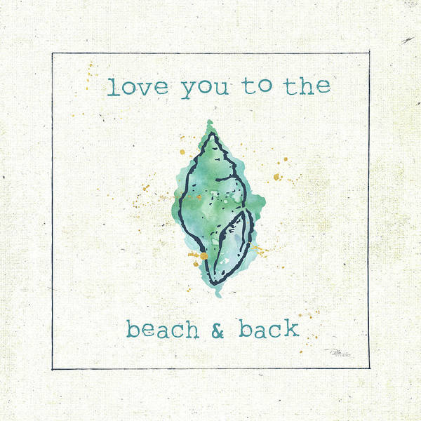 Wall Art - Painting - Sea Treasures Vi - Love You To The Beach And Back by Pela Studio