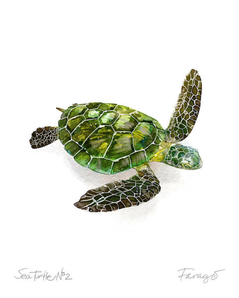Endangered Wall Art - Painting - Sea Turtle #2 by Peter Farago