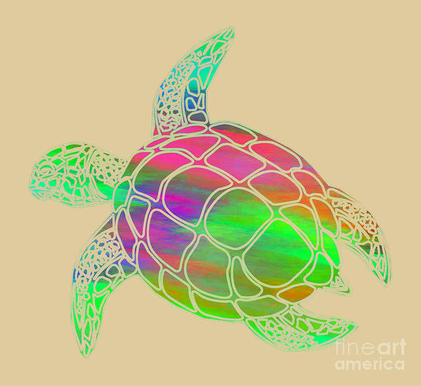 Digital Art - Sea Turtle by David Millenheft