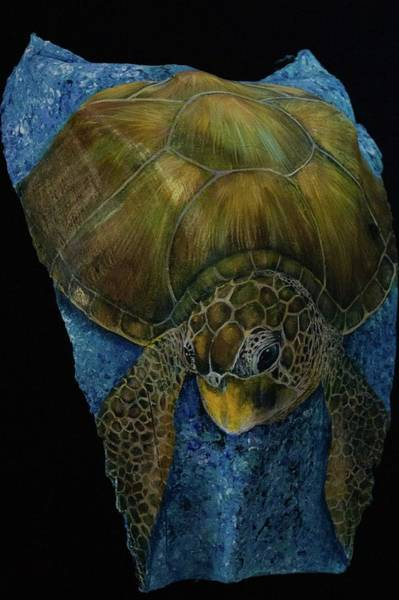 Painting - Sea Turtle Green by Nancy Lauby