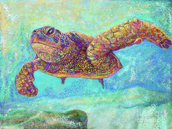 Reef Diving Digital Art - Sea Turtle by Julianne Black DiBlasi