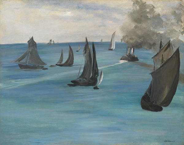 Wall Art - Painting - Sea View, Calm Weather by Edouard Manet