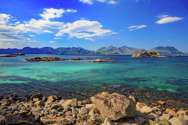 Wall Art - Photograph - Sea Views On The Road To Henningsvaer by Bridget Calip