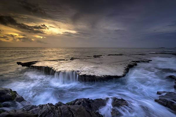 Photograph - Sea Waterfalls by Top Wallpapers