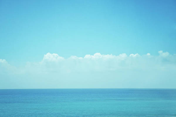 Okinawa Photograph - Sea With Sky And Clouds by D3sign