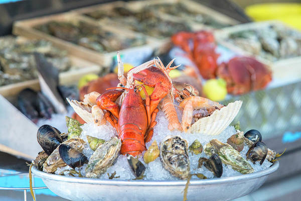 Wall Art - Photograph - Seafood In Outdoor Market, Nice, Cote by Jim Engelbrecht