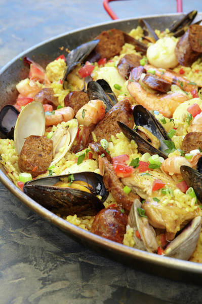 Healthy Lifestyle Photograph - Seafood Paella by James Baigrie