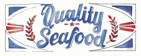 Wall Art - Painting - Seafood Shanty Viii by Anne Tavoletti