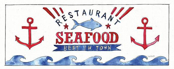 Wall Art - Painting - Seafood Shanty X by Anne Tavoletti