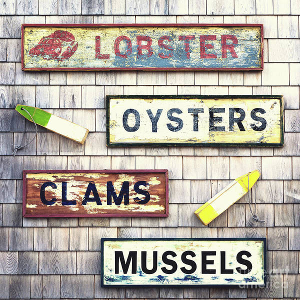 Wall Art - Photograph - Seafood Signs by Jane Rix