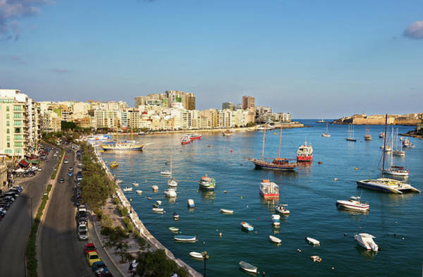 Motorboat Photograph - Seafront Promenade,sliema,malta by Terry Why