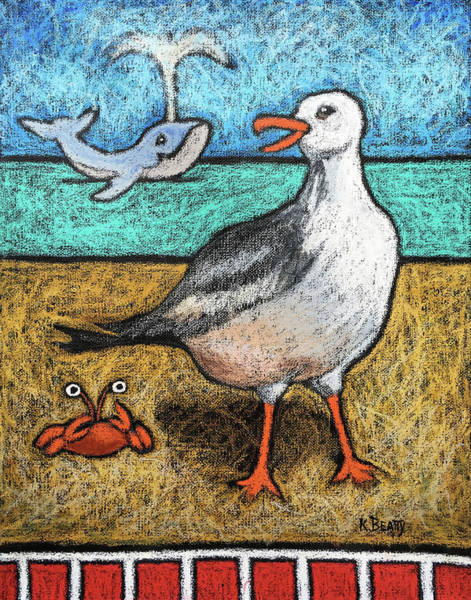 Painting - Seagull And Friends by Karla Beatty