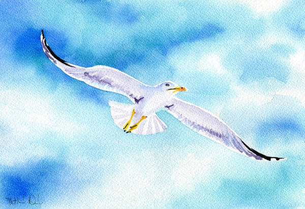 Wall Art - Painting - Seagull by Dora Hathazi Mendes
