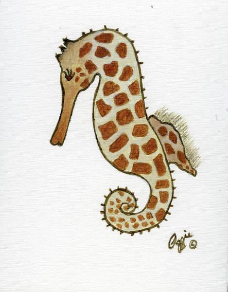 Painting - Seahorse Animal Print by Stephanie Agliano