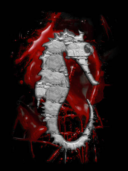 Digital Art - Seahorse by Carlos Diaz