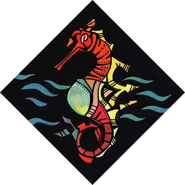 Painting - Seahorse Jewel 121218 by David Bader
