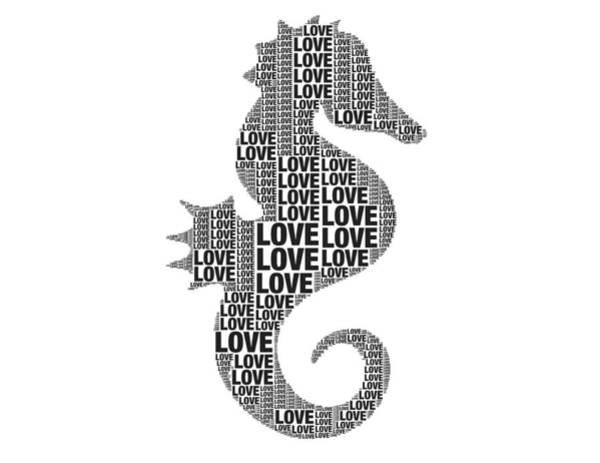 Digital Art - Seahorse Love by Alice Gipson