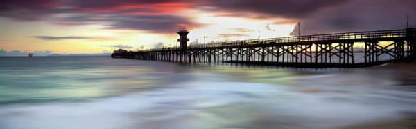 Wall Art - Photograph - Seal Beach Pier Sunset by Sean Davey