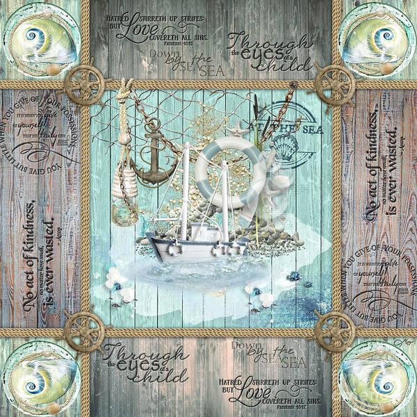 Wall Art - Mixed Media - Seaman by Mo T