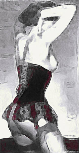 Mixed Media - Seamed Stockings by Susan Maxwell Schmidt