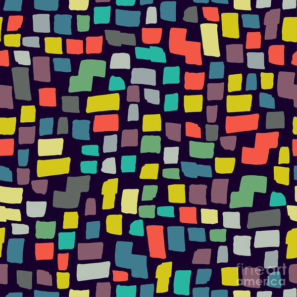 Wall Art - Digital Art - Seamless Abstract Color Pattern. Vector by Magnia