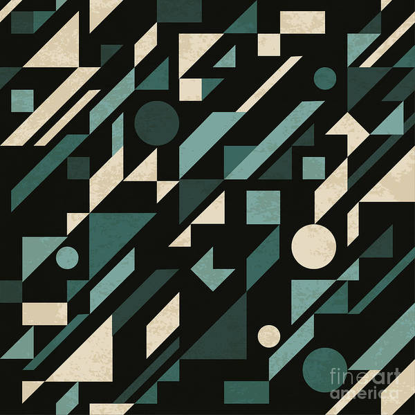 Art Form Digital Art - Seamless Abstract Pattern With by Magnia
