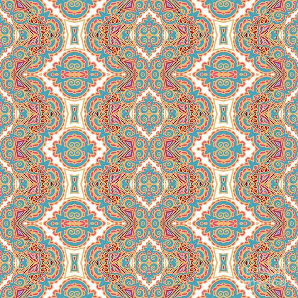 Wall Art - Digital Art - Seamless Decorative Pattern by Aniana