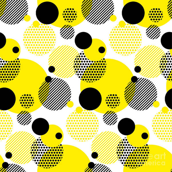 Wall Art - Digital Art - Seamless Dots Modern Pattern. White by Galyna p