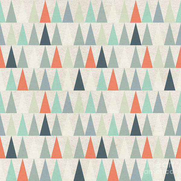 Celebration Digital Art - Seamless Geometric Pattern On Paper by Irtsya