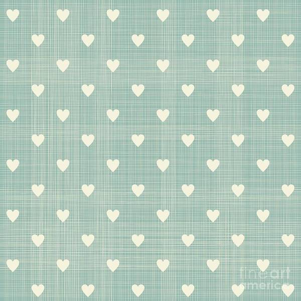 Wall Art - Digital Art - Seamless Hearts Polka Dot Pattern With by Anastasiia Kucherenko
