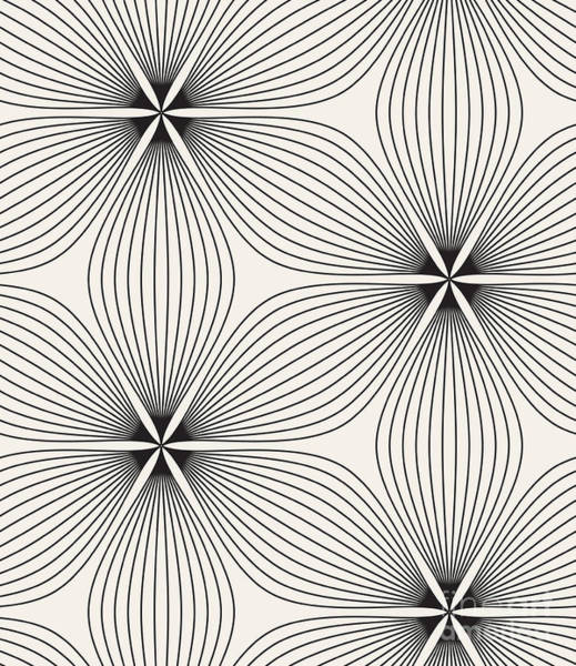 Repetition Wall Art - Digital Art - Seamless Pattern. Floral Stylish by Curly Pat