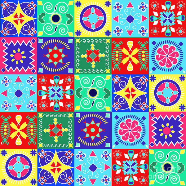 Celebration Digital Art - Seamless Pattern  Holiday Cheerful by Fotinia