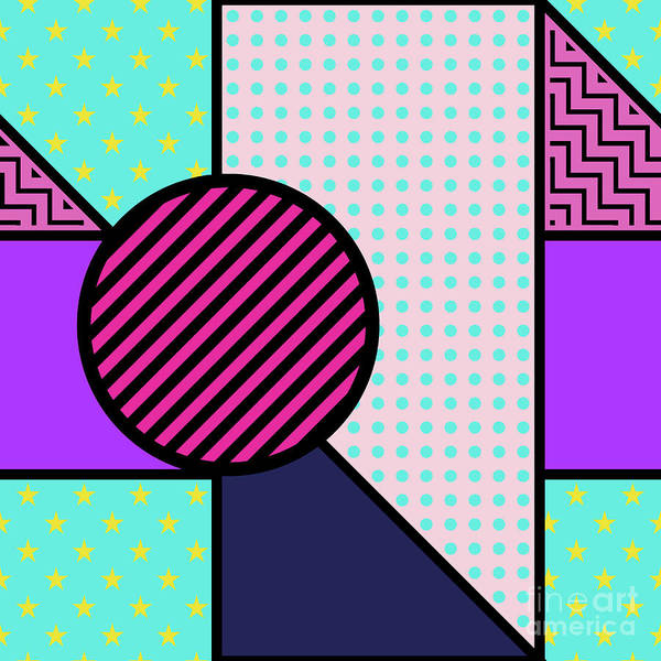 Wall Art - Digital Art - Seamless Pattern In Geometric Style by Iryna Omelchak