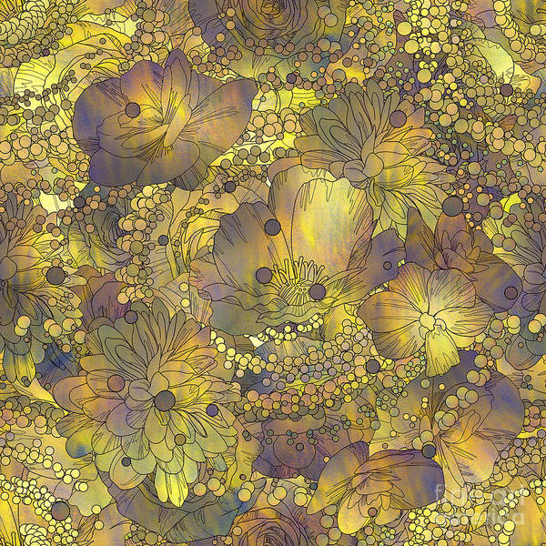 Wall Art - Digital Art - Seamless Pattern Of Colorful Flowers by Tithi Luadthong