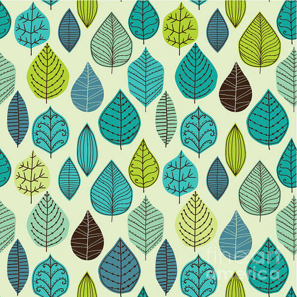 Celebration Digital Art - Seamless Pattern On Leaves Theme by Markovka